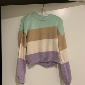For Love and Lemons Hailey Striped Sweater